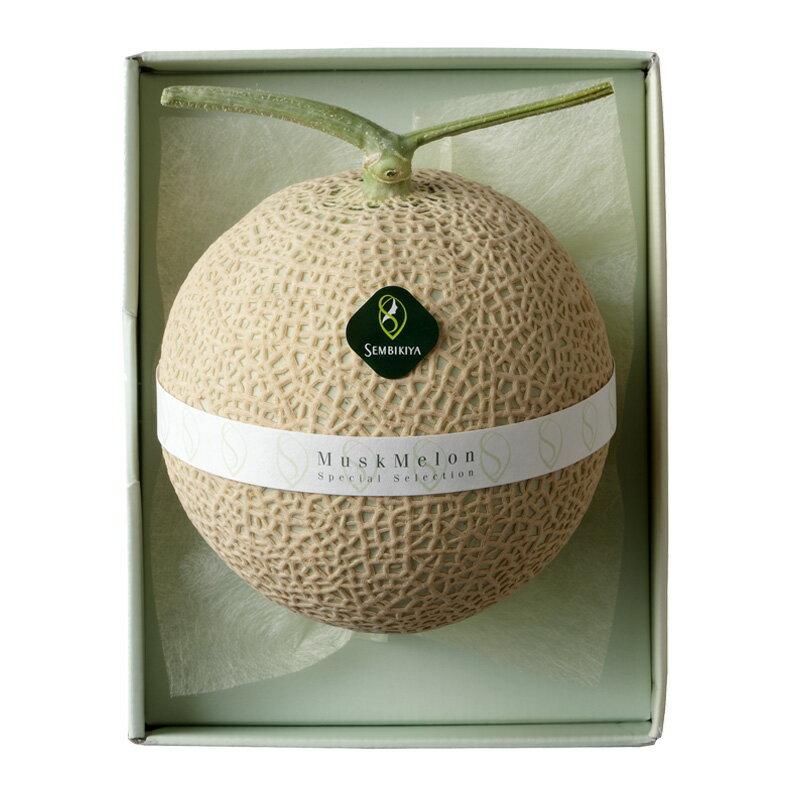 【送料無料】千疋屋総本店(せんびきや)マスクメロン1個(約1.3kg・化粧箱入)