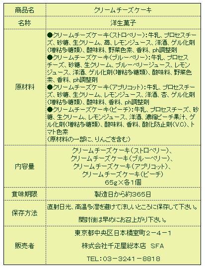 千疋屋総本店(せんびきや)クリームチーズケーキ...の紹介画像2