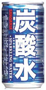 サンガリア 炭酸水 缶 185g 1本