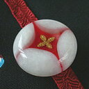 花七宝の帯留 白(商品番号 WA-183)