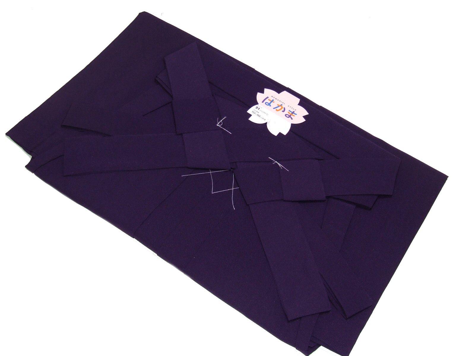 女性用無地袴(卒業式)No.004-a(紫色)-Lサイズ-95