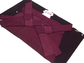 Women's embroidered Bokashi hakama (graduation) No.002-d( wine color shading )-l size-95