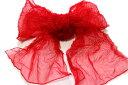 女の子用特価品絞りの兵児帯-約3.0メートル(地色:赤色/10才位まで対応可/女性用プチ兵児帯での利用も◎)