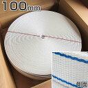 ホーサーPETベルトカバー 幅100mm × 長さ75m × 厚み3.8mm 白色・青線入 【東京製綱繊維ロープ】