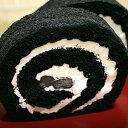 竹炭で真っ黒ロールケーキ