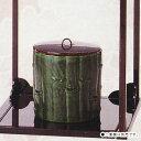【茶道具・水指】水指 寄竹佐々木昭楽作●棚は別売です。