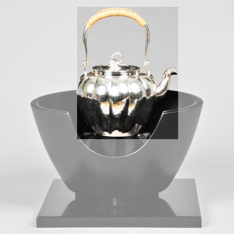 茶道具 銀瓶純銀製 湯沸 龍口 一政堂