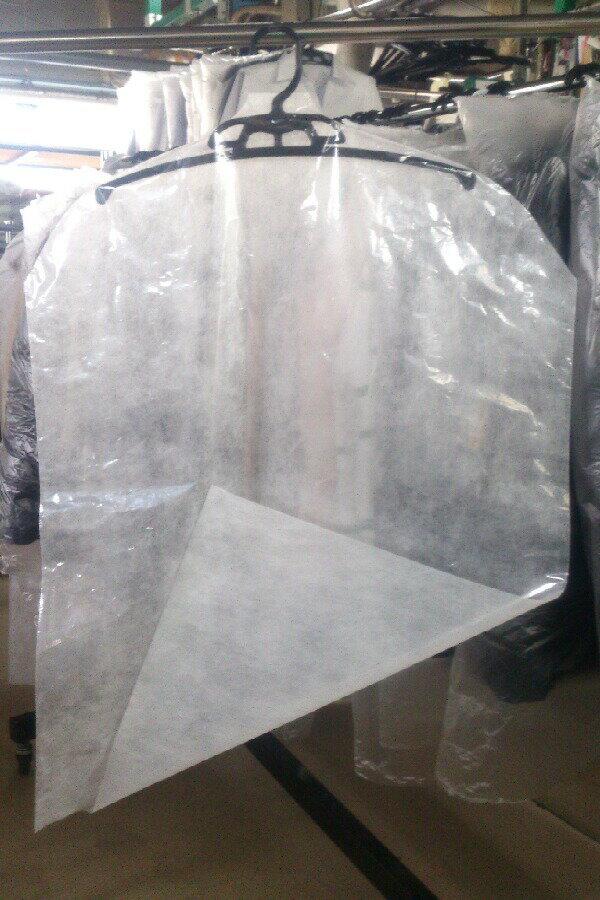 衣類カバー上着用5枚セット【単品販売不可 クリーニング仕上品と同梱(サイズ62*100)
