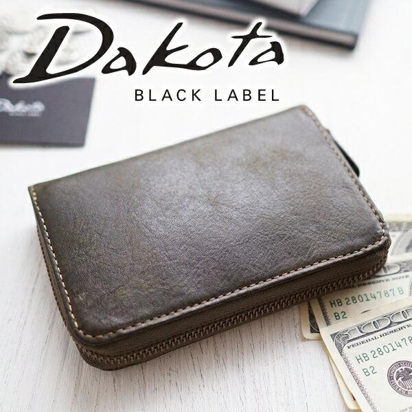 【選べる実用的ノベルティ付】 Dakota BLACK LABEL ダコタ ブラックレーベル 財布ガウディ 小銭入れ付き二つ折り財布(ラウンドファスナー式) 0626802メンズ 二つ折り ギフト プレゼント