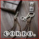 CORBO. コルボ-CLAY Works- クレイワークスシリーズウォレットコード 8JF-9357メンズ ウォレットチェーン 本革 メンズ 日本製 【】 ネイビー ブラウン ブ