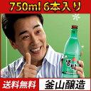 (02511)【あす楽】【送料無料!】【冷蔵】 釜山生濁マッコリ(センタク) 750ml x 6本