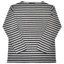 SAINT JAMES(セントジェームス) L/S BOATNECK BASQUE SHIRT(長袖ボートネックバスクシャツ) OUESSANT(ウエッソン) GRIS/NOIR(GREY/BLACK)