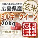 【送料無料】28年産広島県産新米ミルキークイーン20kg『玄米』*北海道・沖縄別途送料500円が掛かります