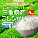 [no-rinse rice] [24 yearly output] 5 kg of no-rinse rice Koshihikari [free shipping] from Mie [the postage needs Okinawa, the isolated island separately] [filter rice, and shine]