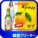 ■『LOTTE』チョウムチョロム スンハリ柚子焼酎|果実焼酎...