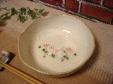 和食器 うさぎ模様でこぼこ中鉢(白)