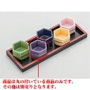 カラー珍味 紫六角珍味 [4.7 x 3cm] 強化【旅館 料亭 飲食店 和食 業務用】