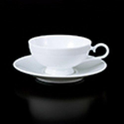 碗皿白磁フレーバーティー碗皿[碗φ98xh54cm・190cc][皿φ148xh24[188-19]