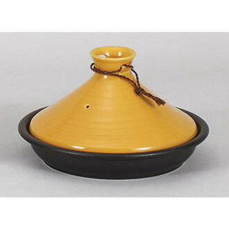 Tagine 罐金顏色的火蓼訂旅館日本儀器食品商店商業羅馬 Tagine 鍋 (大) [21.3 x 12.8 釐米] 土壤