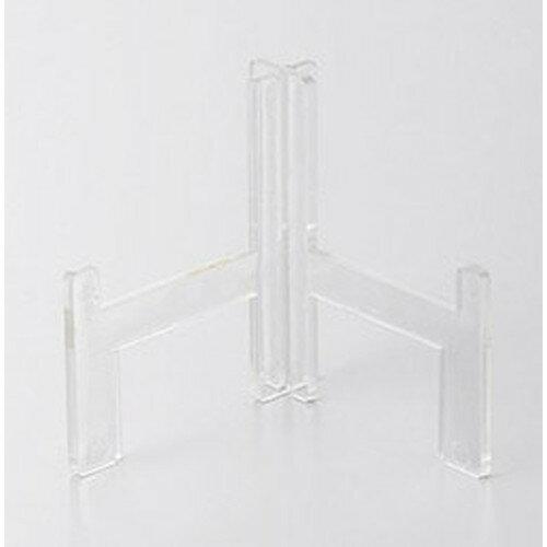 皿立て 角皿用皿立てL型高足(小)とう明 [5.8cm] 【料亭 旅館 和食器 飲食店 業務用】
