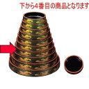 寿司 D.X富士型桶グリーンパール波尺3寸 [40.0φ x 6.3cm] ABS樹脂 (7-459-1) 【料亭 旅館 和食器 飲食店 業務用】