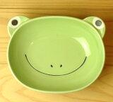 培育心灵 - 以儿童餐具良好的照顾 - 板咖喱(青蛙)[【子供用食器】カレー皿(カエル)]
