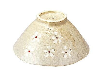 백색 押花 밥 그릇 (빨강)