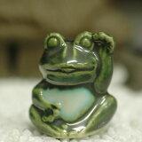 【禎山造】織部招き蛙