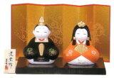【雛人形/ひな人形】錦彩親王座雛(陶器)