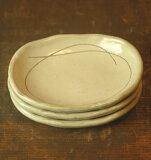 存在感有的【海峡粉引】椭圆豆碟子[【瀬戸粉引】楕豆皿]