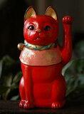 - 祝你好运 - 来庆祝开幕,房间的室内古董大正猫猫[红色』[古色大正猫 『赤猫』【楽ギフメッセ】【楽ギフメッセ入力】【楽ギフのし】 【楽ギフのし宛書】]