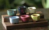 板付豆一套六锅[【植木鉢】板付豆盆栽鉢6点セット【和風植木鉢 ミニ盆栽鉢 陶器 磁器】]