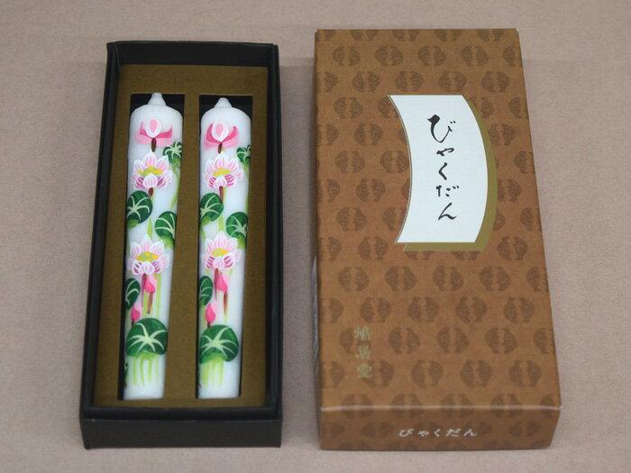 鳩居堂・線香「びゃくだん」と越後花蝋燭「ハス」セット
