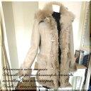 ムートン コート ファー 羊革 毛皮 ジャケット ダッフルコート mouton coat / 130924 ムートン ダッフル コート ダウンコート ウール ..
