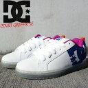 祝★開店 ディーシー スニーカー 靴 DC Shoe COURT GRAFFIK SE White Black Cyan SHOE 300927-WCY コートグラフィックSE スケシュー スケートボード スケボー ダッドシューズ ダッドスニーカー メンズ 男性 ZRC