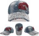 ショッピングおしゃれ キャップ レディース メンズ デニムキャップ 帽子キラキラ リップスティック ラインストーン付きヴィンテージ ベースボールキャップ カジュアル ハット 野球帽 おしゃれ