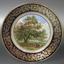 セーブル 飾り皿チプッステッドの楡の木陶磁器 フランス SEVRES