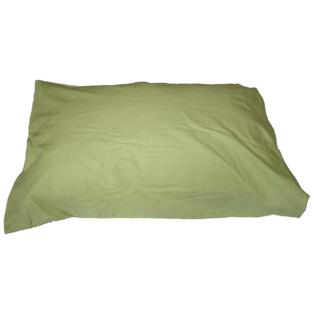 【業務用】綿100%ピロケース 50×90cmウスグリーン 1枚単位