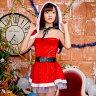 サンタ コスプレ 衣装 サンタコス サンタクロース クリスマス コスチューム サンタコスプレ SEXY mini dress ミニドレス ケープ セット サンタコスプレ ミニドレス