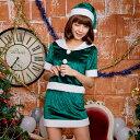 サンタ コスプレ クリスマス コスチューム 衣装 セクシー ファー付き 緑 定番 レディース サンタコスプレ 半袖 赤 costume cosplay 大人 サンタ コスプレ コスプレ衣装 クリスマス サンタクロース あす楽