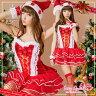 サンタ コスプレ 衣装 花 フラワー サンタコス サンタクロース クリスマス コスチューム サンタコスプレ SEXY mini dress ミニドレス ケープ セット サンタコスプレ ミニドレス