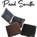ポールスミス 財布 メンズ 2つ折り財布 アーティストストライプポップ P514 二つ折り プレゼント 送料無料 Paul Smith