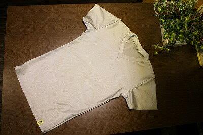 YBIの魔法の下着ネルトダウンVネックTシャツシルバー