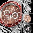 腕時計 Disney ディズニー ミッキー マウス 回転ベゼル クロノグラフ調 スワロフスキー ミッキー生誕80周年記念回転ベゼル腕時計 (fa-950271) ウォッチ 金属ベルト ステンレス 高級