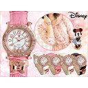 腕時計 レディース Disney ディズニー ミニー マウス 本牛革ベルト スワロフスキー ミニーリボンチャーム腕時計 (fa-NFC130530/534) ウ...