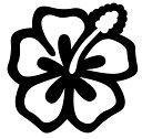 楽天シャドウマジックハイビスカス Type02 ステッカー 車 カワイイ おしゃれ バイク ヘルメット タンク シール タトゥー