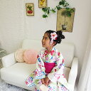 ショッピング女の子 【撫松庵ジュニア】子供浴衣 yukata 朝顔×白 女の子 7-8歳 (120) 10P03Dec16