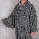 ショッピングコート 【しゃなりすと】2way衿ロングコート/ポケットあり チェック/黒 10P03Dec16