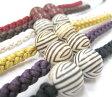 【粋夢】羽織紐 丸縞/赤・茶・白・からし・紫・黒 10P09Jul16