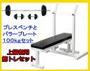 【予約販売】「ベンチプレス セット 100kg」ShapeShop 国産製ベンチプレス+100kgセット(Φ28mmラバープレート)(上級者用筋トレセット)YY100+THN1SP